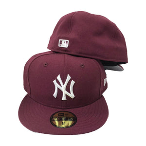 NEW YORK YANKEES MAROON NEW ERA 59FIFTY FITTED HAT