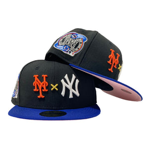 NEW YORK YANKEES * METS SUBWAY SERIES PINK BRIM NEW ERA FITTED