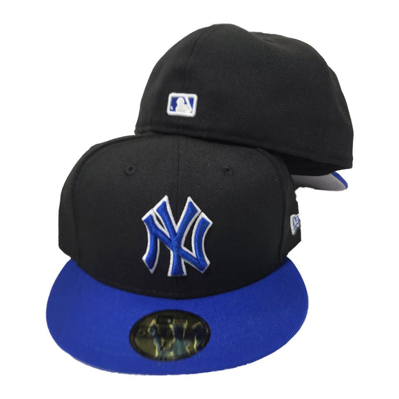 NEW YORK YANKEES ROYAL BLACK NEW ERA 59FIFTY FITTED HAT