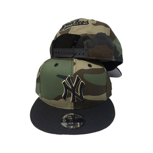 NEW YORK YANKEES WOODLAND CAMO 9FIFTY NEW ERA SNAPBACK CAP