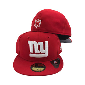 NFL New York Giants Red New Era Fitted Hat
