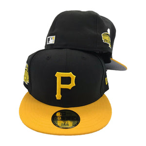 New Era Black Yellow Pittsburgh Pirates 1971 World Series Side Patch 59Fifty Fitted Cap