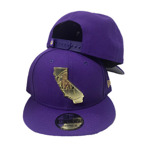 New Era Los Angeles Lakers gold Metal State Map Logo 9fifty Snapback