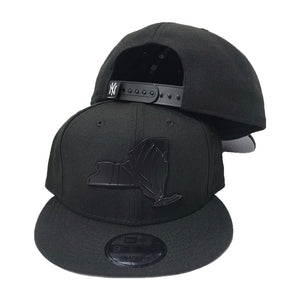 New Era New York Yankees Black  Metal State Map Logo 9fifty Snapback