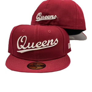New York City Queens Burgundy New Era 59Fifty Fitted Cap