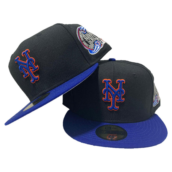 New York Mets Black Royal Blue  Subway Series New Era Fitted Hat