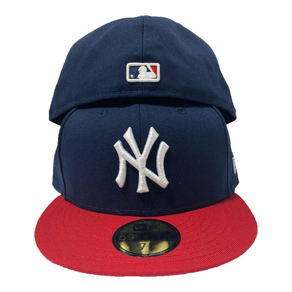 New York Yankees Navy Red New Era Fitted Hat