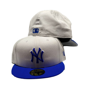 New York Yankees White With Royal Visor New Era Fitted Hat
