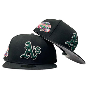 OAKLAND ATHLETICS 1989 BATTLE OF THE BAY WORLD SERIES BLACK NEW ERA FITTED