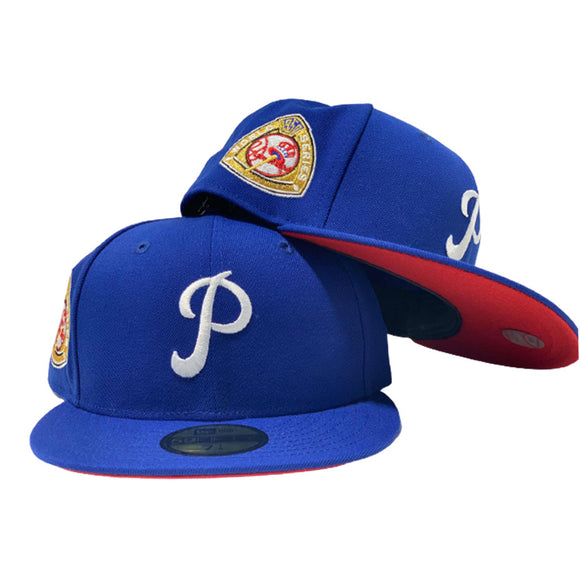PHILADELPHIA PHILLIES 1950 WORLD SERIES ROYAL RED BRIM NEW ERA FITTED HAT