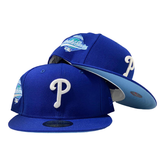 PHILADELPHIA PHILLIES 1993 WORLD SERIES ROYAL ICY BRIM NEW ERA FITTED