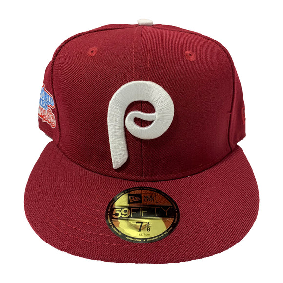 PHILADELPHIA PHILLIES ALL BURGUNDY FITTED CAP