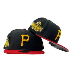 PITTSBURGH PIRATES 1971 WORLD SERIES BLACK RED 59FIFTY NEW ERA FITTED
