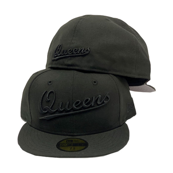 Queens All Black New Era Fitted