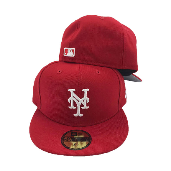 Red New Yoek Mets New Era Fitted Hat