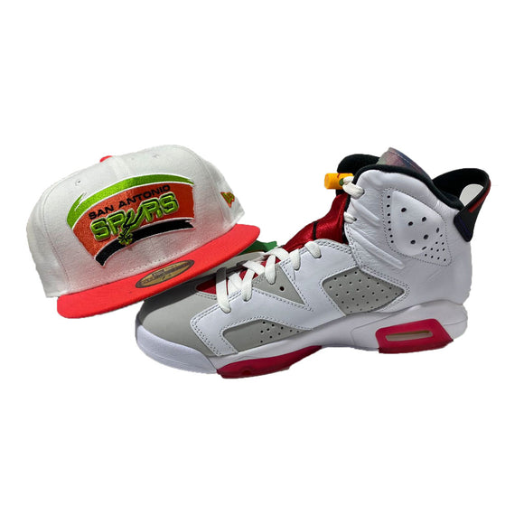 San Antonio Spurs New Era Fitted to Match Jordan 6 Retro Hare