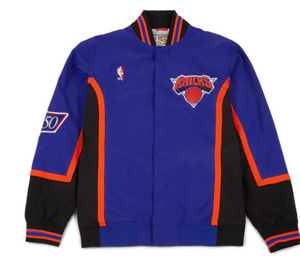 Authentic Mitchell and Ness NEW YORK KNICKS Warm Up Jacket