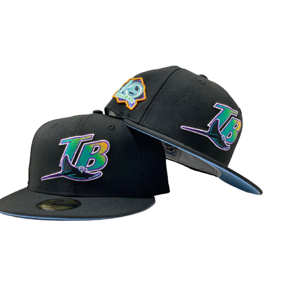 TAMPA BAY 10TH SEASONS BLACK ICY BRIM NEW ERA FITTED HAT
