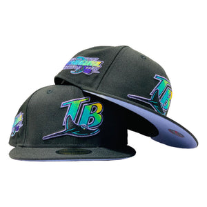 TAMPA BAY1998 INAUGURAL SEASON BLACK LAVENDER BRIM NEW ERA FITTED HAT