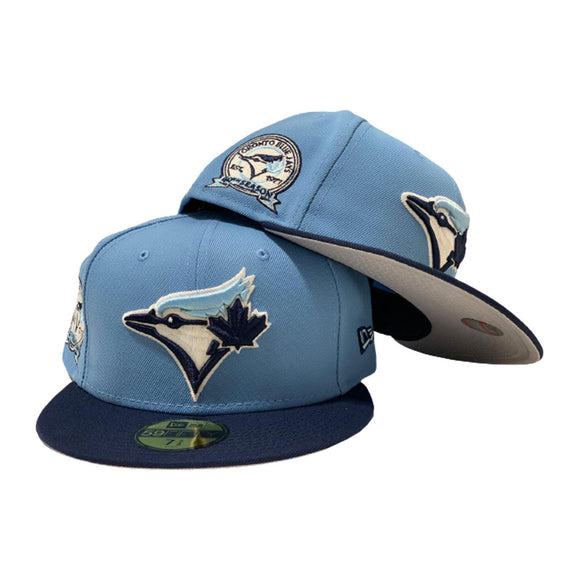 TORONTO BLUE JAYS 40TH SEASONS NAVY/ SKY NEW ERA FITTED HAT