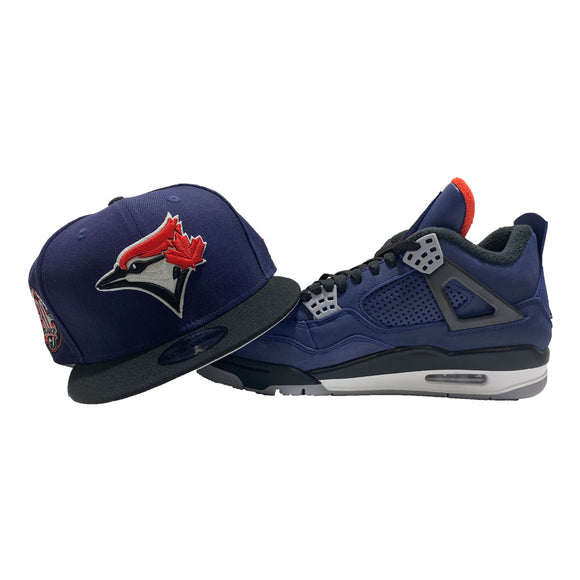 TORONTO BLUE JAYS FITTED TO MATCH AIR JORDAN RETRO 4 WINTER