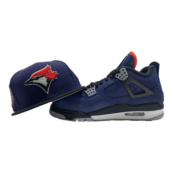 TORONTO BLUE JAYS SNAPBACK TO MATCH AIR JORDAN RETRO 4 WINTER