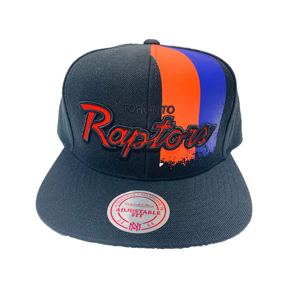 TORONTO RAPTORS SPLATTER PAINT MITCHELL AND NESS SNAPBACK