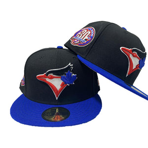 Toronto Blue Jays 30th Season Black Royal 59Fifty New Era Fitted Hat