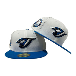 Toronto Blue Jays 30th Season White Blue Jewel New Era Fitted Hat