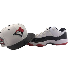 Toronto Blue Jays Patent Leather New Era Snapback to Match Jordan 11 Retro Low Concord Bred