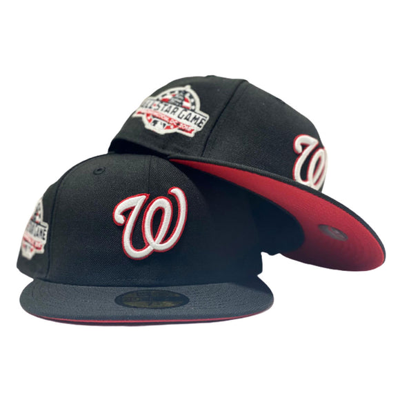 WASHINGTON NATIONALS 2018 ALL STAR BLACK RED BRIM NEW ERA FITTED HAT