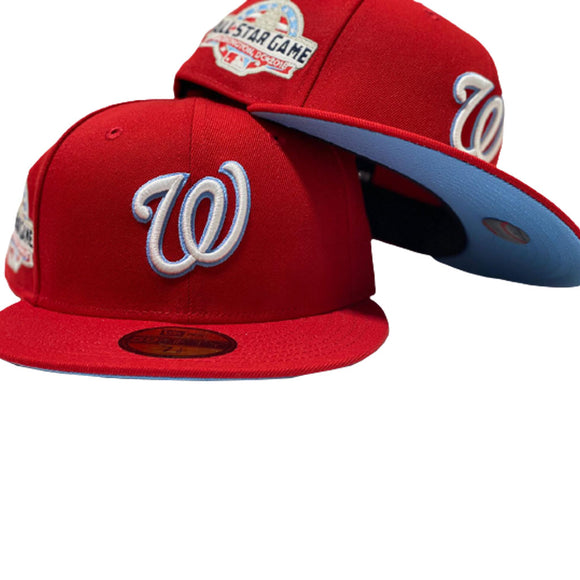 WASHINGTON NATIONALS 2018 ALL STAR RED ICY BRIM NEW ERA FITTED HAT