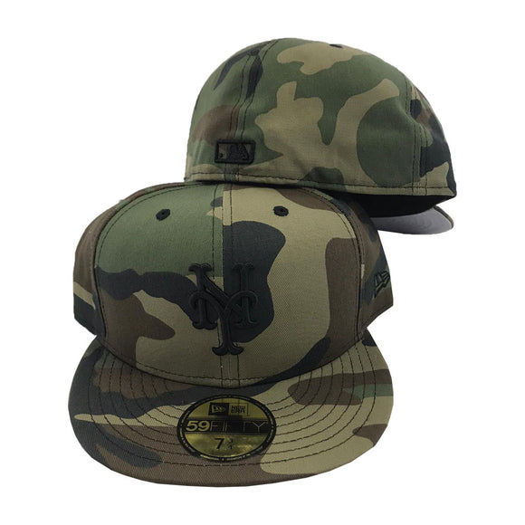 Woodland Camo New York Mets New Era Fitted Hat