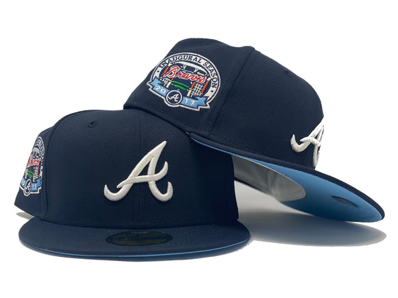 ATLANTA BRAVES 2017 INAUGURAL SEASON NAVY ICY BRIM NEW ERA FITTED HAT
