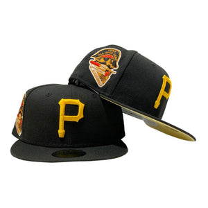 PITTSBURGH PIRATES 1959 ALL STAR GAME BLACK BUTTER POPCORN YELLOW BRIM NEW ERA FITTED HAT