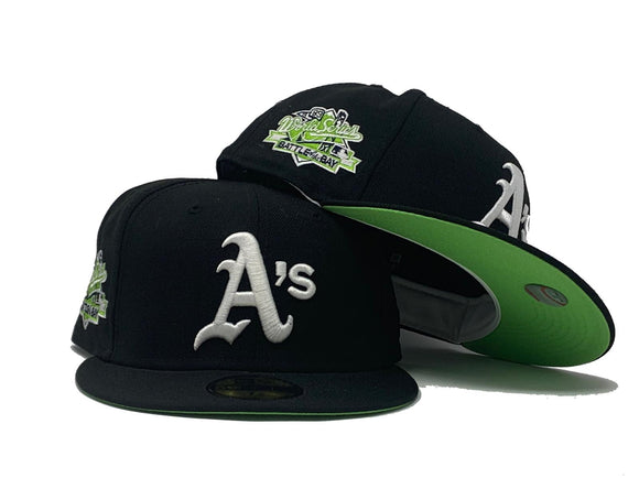 OAKLAND ATHLETICS 1989 BATTLE OF THE BAY BLACK NEON GREEN