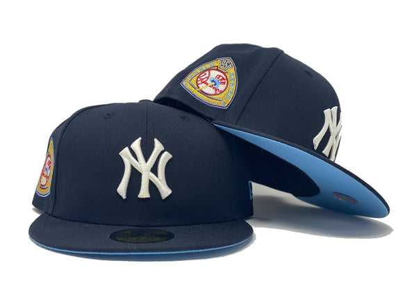 NEW YORK YANKEES 1959 WORLD SERIES NAVY ICY BRIM NEW ERA FITTED HAT