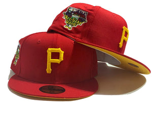 PITTSBURGH PIRATES 2008 ALL STAR GAME RED YELLOW BRIM NEW ERA FITTED HAT