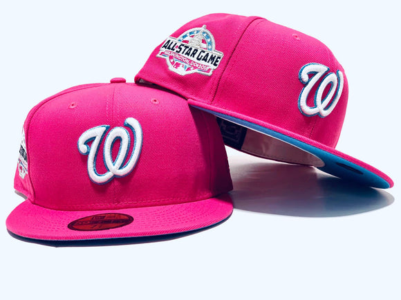 WASHINGTON NATIONALS 2018 ALL STAR GAME PINK ICY BRIM NEW ERA FITTED HAT