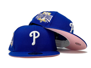PHILADELPHIA PHILLIES 1996 ALL STAR GAME ROYAL PINK BRIM NEW ERA FITTED HAT