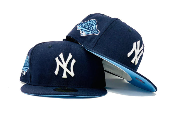 NEW YORK YANKEES 1996 WORLD SERIES NAVY ICY BRIM NEW ERA FITTED HAT