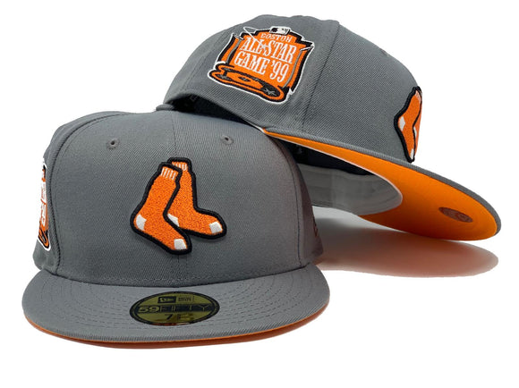 BOSTON RED SOX 1999 ALL STAR GAME DARK GRAY ORANGE BRIM NEW ERA FITTED HAT