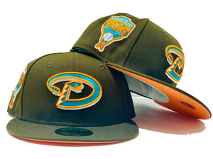 ARIZONA DIAMONDBACKS 1998 INAUGURAL SEASON WALNUT ORANGE BRIM NEW ERA 59 FIFTY FITTED HAT
