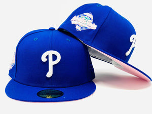PHILADELPHIA PHILLIES 1993 WORLD SERIES  ROYAL PINK BRIM NEW ERA FITTED