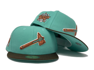 "ATLANTA BRAVES 2021 ALL STAR GAME "" CHOCLATE MINT "" COLLECTION MINT BRIM NEW ERA FITTED HAT"