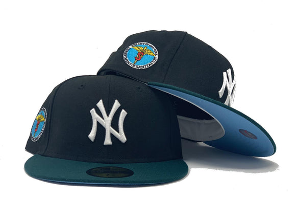NEW YORK YANKEES DEPT. OF SANITATION BLACK ICY BRIM NEW ERA FITTED HAT