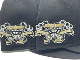 LAKE ELSINORE STORM 75TH ANNIVERSARY BLACK METALLIC GOLD BRIM NEW ERA FITTED HAT
