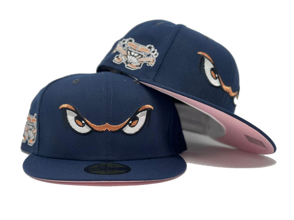 LAKE ELSINORE STORM 75TH ANNIVERSARY NAVY PINK BRIM NEW ERA FITTED HAT