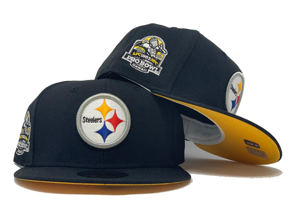 PITTSBURGH STEELERS 1983 PRO BOWL BLACK YELLOW BRIM NEW ERA HAT
