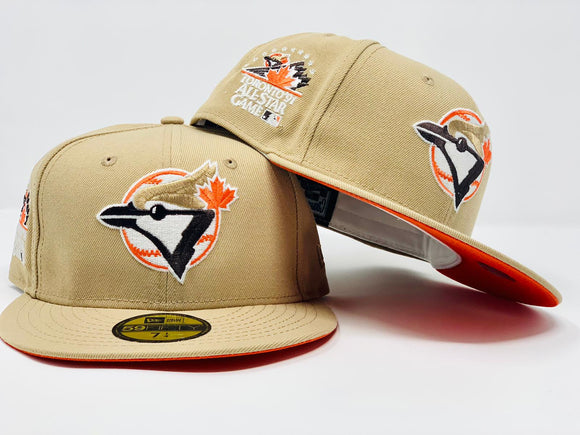 TORONTO BLUE JAYS 1991 ALL STAR GAME LIGHT TAN ORANGE BRIM NEW ERA FITTED HAT